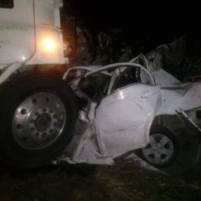 Mueren dos en accidente carretero sobre la vía Villahermosa-Frontera esta madrugada