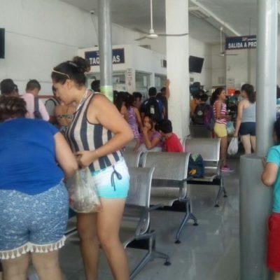 Disminuye 20% la afluencia de pasajeros en ADO de Playa del Carmen