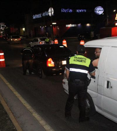 Detienen a once personas por conducir en estado de ebriedad en Cancún