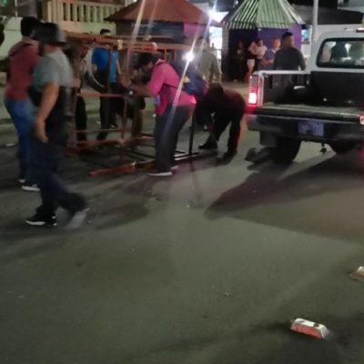 """Retira personal de Fiscalización puestos ambulantes del mercado """"Chactemal"""""""
