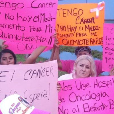 ¡LUCHAMOS POR VIVIR!: Mujeres con cáncer de mama exigen apertura del Hospital Oncológico en Chetumal y abastecimiento de medicamentos para afrontar la enfermedad