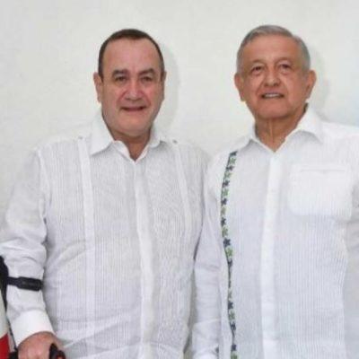 Se reúne AMLO con el presidente electo de Guatemala durante estancia en Mérida