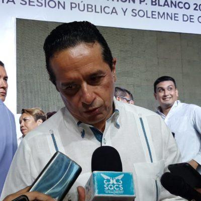 ANTICIPA GOBERNADOR CAMBIOS EN EL GABINETE: Sostiene Carlos Joaquín reunión en la Presidencia para revisar asuntos presupuestales