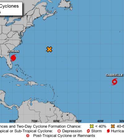 MONITOREO DE CICLONES: 'Dorian' cerca de Florida, 'Fernand' de Tamaulipas y 'Gabrielle' de Cabo Verde