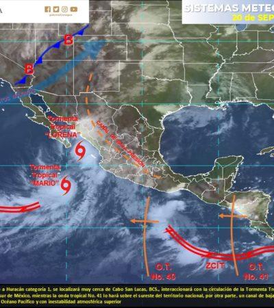 MONITOREO DE CICLONES: 'Lorena' es categoría 1; vientos y lluvias afectarán a BCS, Sinaloa y Nayarit