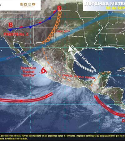 RONÓSTICO DEL CLIMA: Canal de baja presión generará lluvias en Quintana Roo