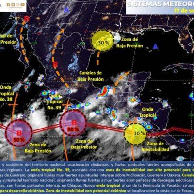 """Huracán """"Humberto"""" cobra fuerza y alcanza categoría 2 ; se encuentra a mil 500 km de QR"""