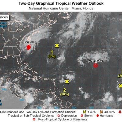 MONITOREO DE CICLONES: Existen 4 sistemas sobre el Atlántico; ninguno representa peligro para Quintana Roo