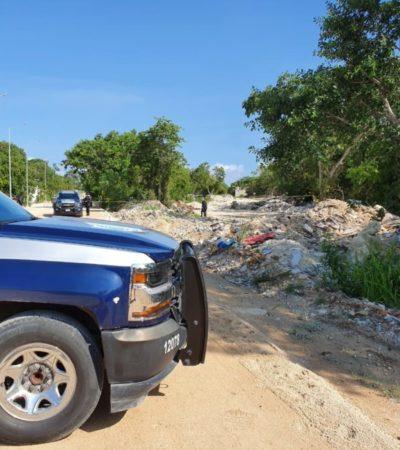 Hallan cuerpo de un hombre debajo de escombro en la colonia Ejidal de Playa del Carmen