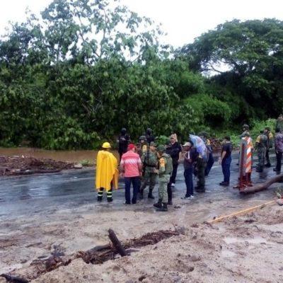 Deja dos muertos y tres lesionados un deslave por lluvias en Veracruz