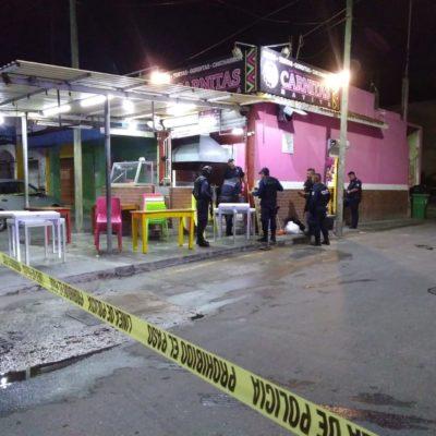 Suenan disparos frente a taquería de Playa del Carmen