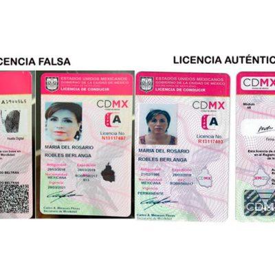 Comprueban que el Ministerio Público presentó al juez una licencia falsa de Rosario Robles
