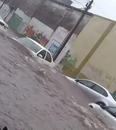 Causan lluvias el desbordamiento de dos ríos en Tapachula