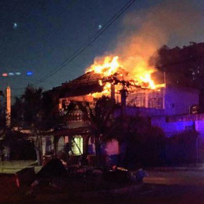 Se incendia restaurante en Chetumal