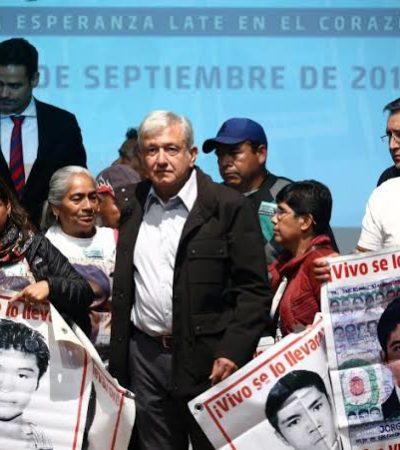 Hace AMLO nuevo llamado 'a quienes tengan información' sobre el caso Ayotzinapa