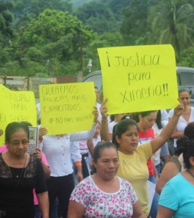 Exigen pobladores justicia por Ximena, la menor secuestrada y asesinada en Mezcalapa