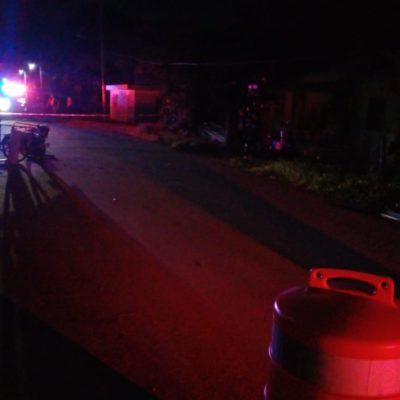 VENÍA ZIGZAGUEANDO POR LA CALLE INDEPENDENCIA: Muere motociclista durante la madrugada del Grito en Kantunilkín
