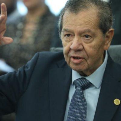 Anuncia Muñoz Ledo su retiro de la presidencia de la Mesa Directiva de la Cámara de Diputados
