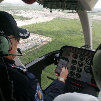 AÚN NO HAY RASTRO DE POLICÍA DESAPARECIDO: Arranca en Cancún operativo de búsqueda de mando policiaco, hasta por aire