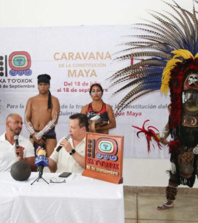 Anuncian cierre de la Caravana de la Constitución Maya y la celebración del Ka t'o'oxok