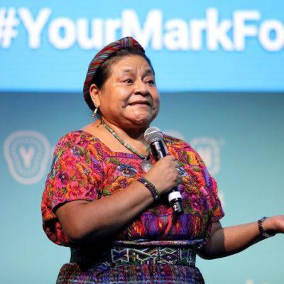 Pide Rigoberta Menchú perdón a la Madre Tierra; reclama acciones contra el cambio climático desde Mérida