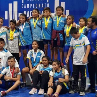 Obtiene Quintana Roo 28 medallas en el Campeonato Nacional Infantil de Levantamiento de Pesas