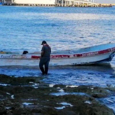 Ya se recuperan, pescadores rescatados en Cozumel