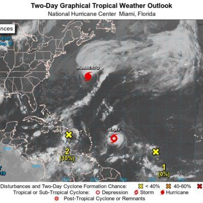 Ingreso de onda tropical 41 a la Península de Yucatán provocará lluvias