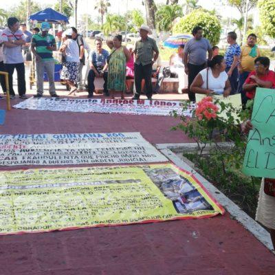 Protestan colonos en Chetumal por remate de sus predios en la ampliación Nuevo Progreso