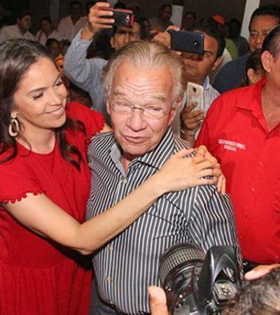 Reaparece Granier en evento del PRI-Tabasco; promueve participación política de su hijo