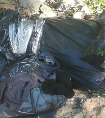 Hallan restos humanos en dos puntos de Puerto Morelos