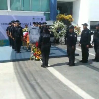 Con ausencia de Alberto Capella, compañeros y familia realizan homenaje luctuoso a Archi Yama en la Secretaría de Seguridad Pública