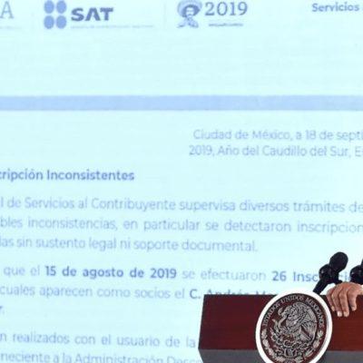 'Desaparece' jefe del SAT en Boca del Río; allí dieron de alta a AMLO como socio de empresas fantasma