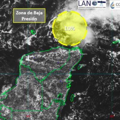 Se forma sistema con 10% de probabilidad de desarrollo ciclónico al noreste de la península de Yucatán