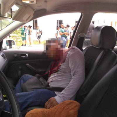ATACAN TAXI EN NUEVO XCAN: Un hombre herido por tiroteo en la salida de la comunidad de Cristobal Colón