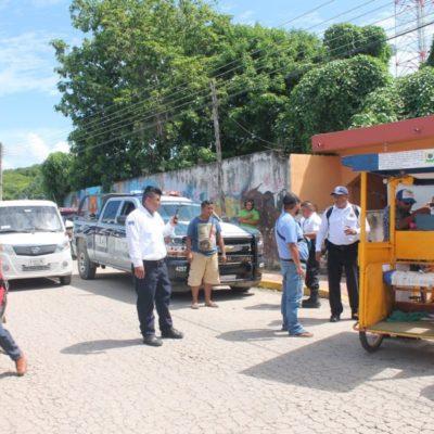 Mototaxistas de Kantunilkín detienen a tricitaxi de la CROM que no acató acuerdo del Imoveqroo