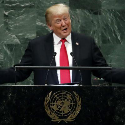 Elogia Trump en la ONU la 'gran cooperación' de AMLO para contener migración hacia los EU