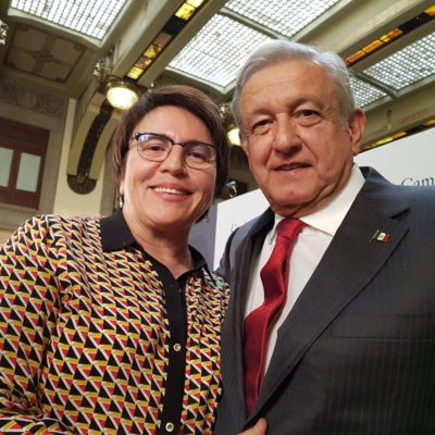Asiste Laura Beristain a la toma de protesta de la presidencia del Consejo de la Comunicación que impulsa AMLO como estrategia contra la corrupción