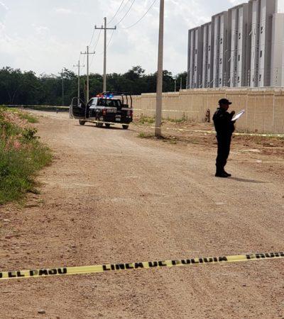 Hallan cuerpo con posibles huellas de violencia en un camino de terracería en la SM 327 de Cancún