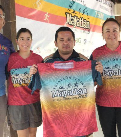 Anuncian la realización de la séptima edición del Mayatlón en Solidaridad; Comuna quiere incorporar el triatlón en las escuelas deportivas municipales