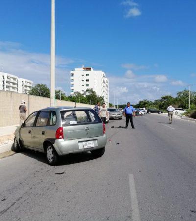 ACCIDENTE MORTAL EN LA HUAYACÁN: Motociclista es embestido por auto manejado por estudiante; un muerto y un herido en Cancún