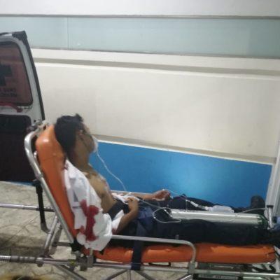 Hieren a joven de una puñalada en el pecho en la Región 259 de Cancún