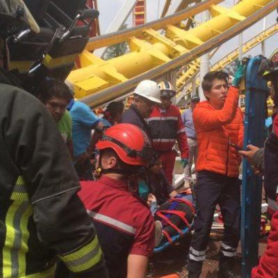 Mueren dos personas por falla de juego mecánico en la Feria de Chapultepec; autoridades suspenden actividades