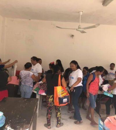 """Logran reunir más de tres mil prendas para donar en la brigada """"Ropa de amor"""" en Cancún"""