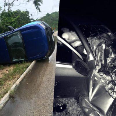 CARRETERAZO RUMBO A XUL-HA: Saldo de tres personas muertas al chocar dos vehículos en la madrugada