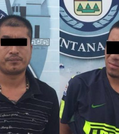 Detienen a dos sujetos por robo a casa de cambio en la Sm 3 de Cancún