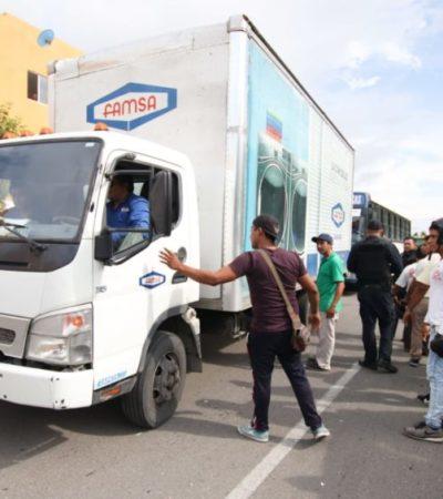 Mototaxistas de Cielo Nuevo agreden a choferes de transporte público y particular, luego de que unidad de Autocar atropellara a uno de sus agremiados