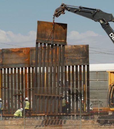 Aprueba Gobierno de EU 3.6 mmdd de fondos militares para muro en la frontera con México