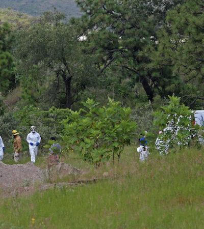 Reconstruyen forenses restos de 119 bolsas del pozo en Jalisco; son 42 cuerpos desmembrados