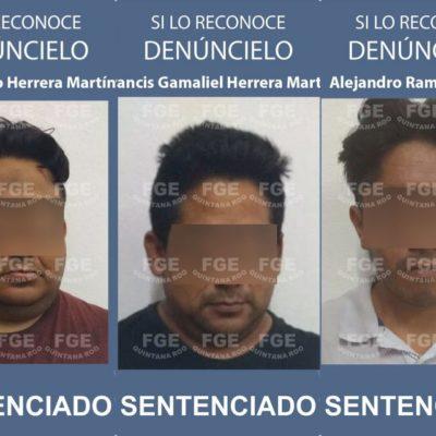 Obtiene FGE sentencia condenatoria de 50 años para tres sujetos acusados de homicidio calificado y homicidio calificado en grado de tentativa.